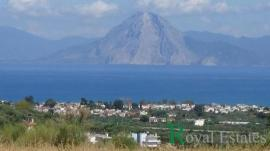 Unique land available for sale with amazing views of the Gulf of Patras